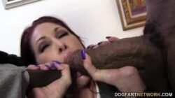 Tiffany Mynx is getting filled with two black cocks