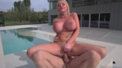 Two naughty blondes taking the hard dick of Rocco