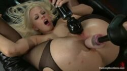 Jessie Volt is horny and feeling excited with this sex machine
