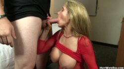 Hot housewife getting filled with some young cock and covered in cum